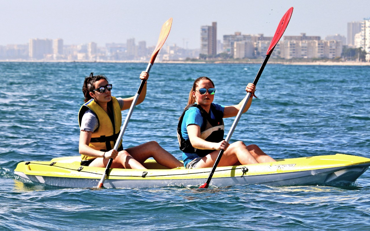 The best place to practice water sports is on the Costa Blanca